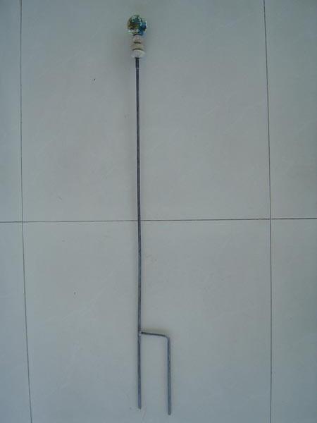 Naturfarbe Gartenstecker Gartenglaskugel Beetstecker Glaskugel rost 120cm