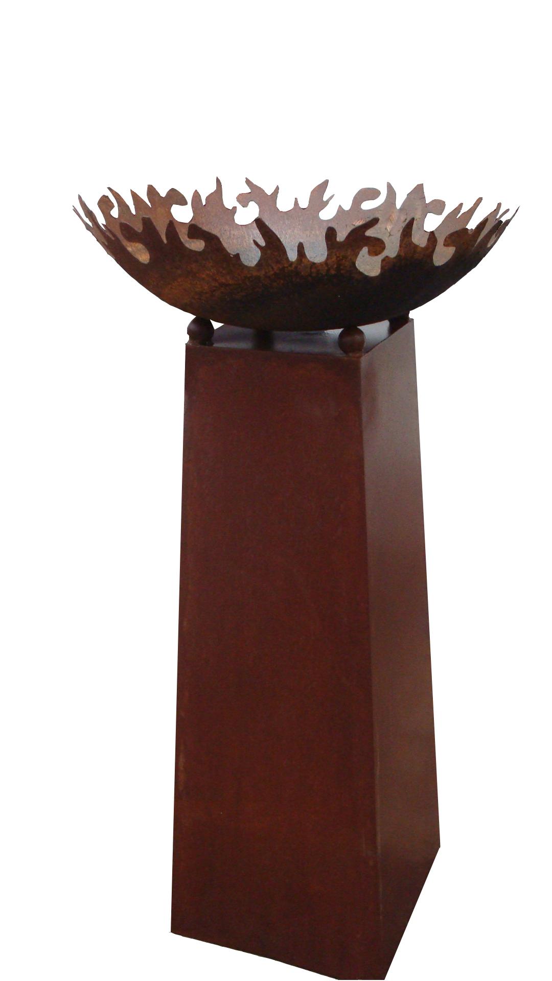 edelrost konus h100cm f r feuerschale pflanzschale gartendeko metall in 4 gr e ebay. Black Bedroom Furniture Sets. Home Design Ideas